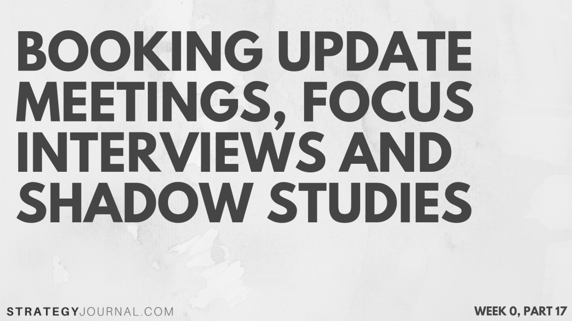 Focus interviews are the heart of top-down analyses and must be done first